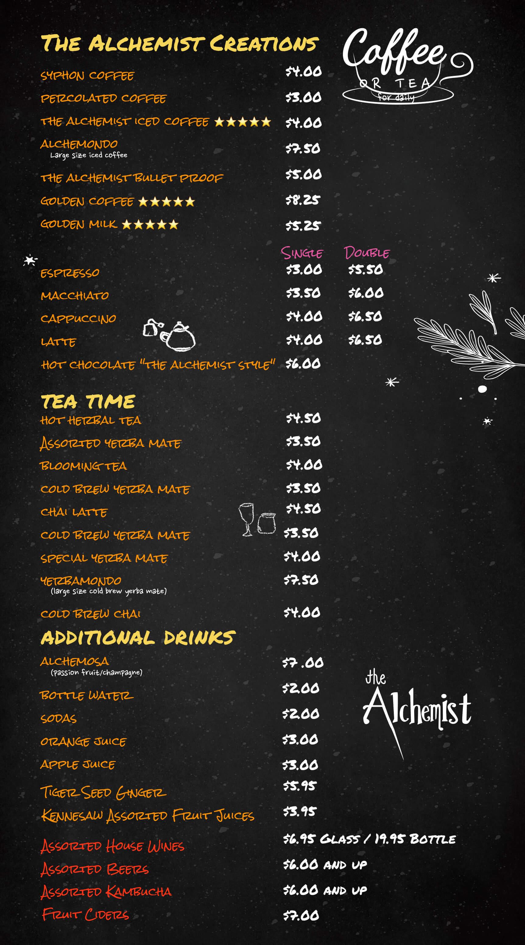 The Alchemist Drinks