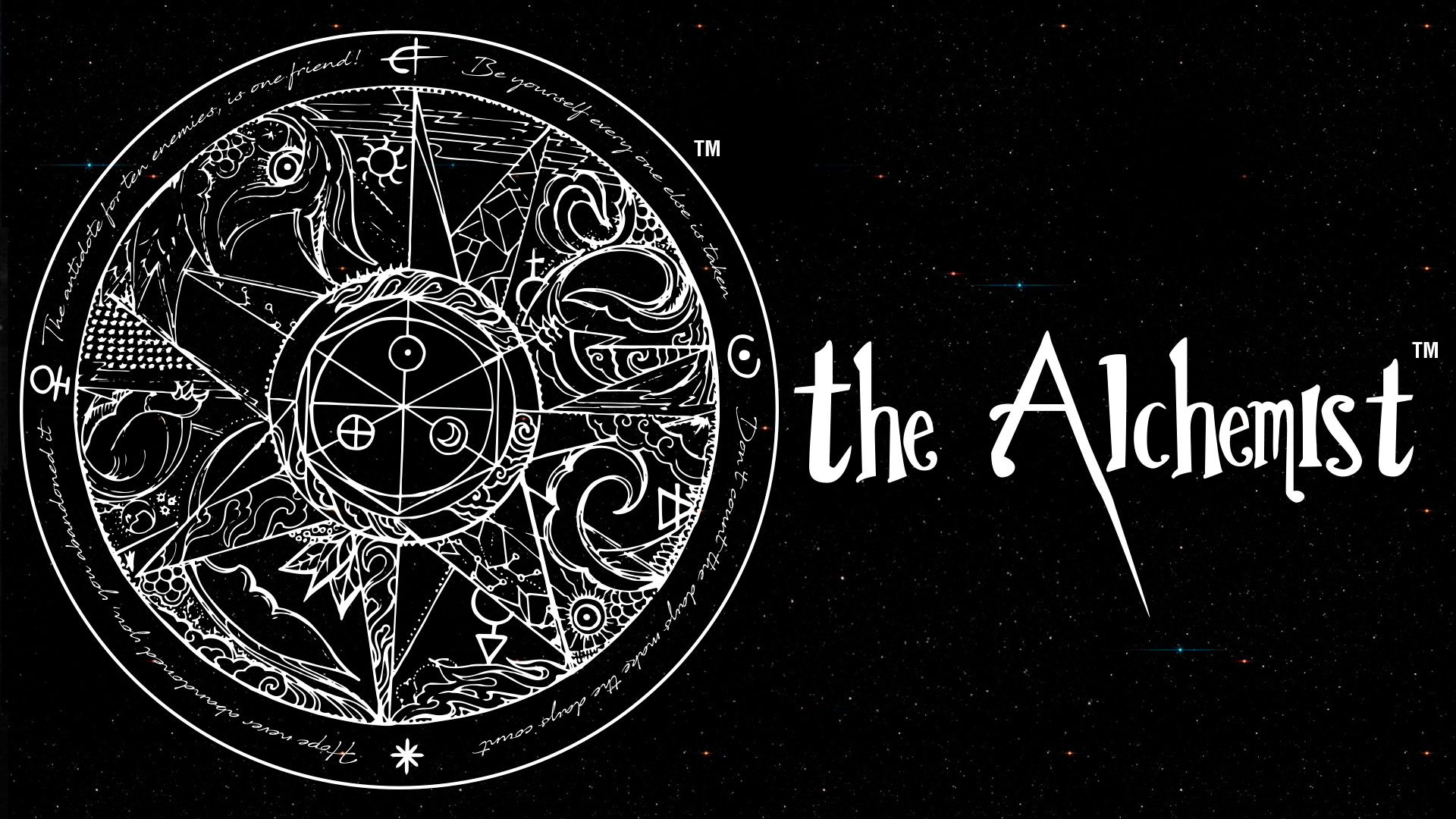 The Alchemist logo with in a black background