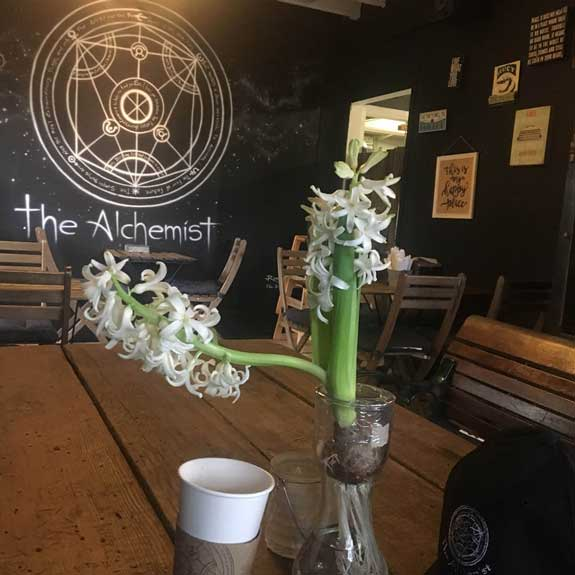 Table at The Alchemist with Flowers